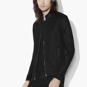 John Varvatos Zipped Knit Jacket. Size Medium